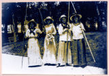 Young Women Fishing at Oakwood Park, 1914