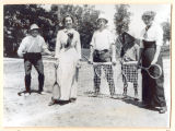 Tennis Court at Oakwood Park, 1914