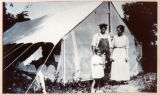 Family in Front of Early Camp Meeting Tent