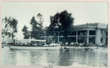 "The ""Deluxe"" Passenger Boat in Front of the Oakwood Park Hotel, 1930"