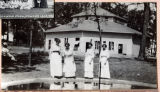 Four Women in Front of the Tabernacle at Oakwood Park
