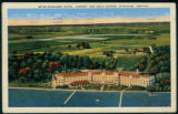 Postcard of the Spink Wawasee Hotel, Airport, and Golf Course
