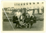 Mrs. Bernard Cuniff and Group by Spink-Wawasee Hotel