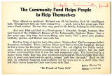 The community fund helps people to help themselves