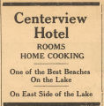 Centerview Hotel Advertisement