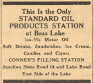 Conner's Filling Station Advertisement