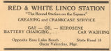 Red & White Linco Station Advertisement