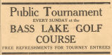 Public Golf Tournament Advertisement