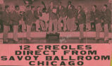 12 Creoles from Chicago's Savoy Ball Room play at Bass Lake