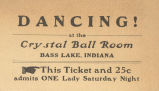 Dance at the Crystal Ball Room at Bass Lake.