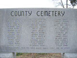 County Farm Cemetery (AKA Potter's Field; County Home