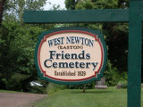 Easton (aka West Newton Friends0 (aka Old Quaker) Cemetery
