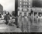 Loading platform, flooded riverfront, Evansville,IN, 1937