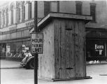 Portable Toilets, Locust St. & 4th St., Evansville, IN, 1937
