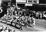 Lincoln High School Band, Army Day Parade, April 6, 1946