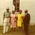 Unknown man, Mrs. Rochelle, Rochelle's niece, and Charles Rochelle, September 1969