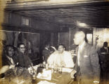 Charles Rochelle on right, at dinner with Masons