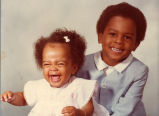 Clara Lyn Chube's children, Gordon Oneal and Beth, Gary Indiana, December 1976