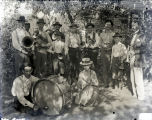 People with musical instruments, New Harmony, IN