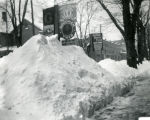 Snow pile eighteen inches, New Harmony, IN