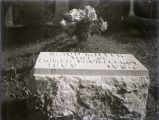 Maud Miller Fauntleroy grave with pink rosebuds, New Harmony, IN