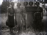 Group of five girls in Harmonist Cemetery, New Harmony, IN