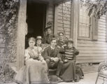 Mary Emily Fauntleroy, Mrs. Clarence Wolf, Lucile Eagle, Mrs. D. Wilson, Clarence Wolf, and Hugh...