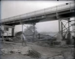 Harmony Way Bridge construction on the Illinois side high water prevention, White County, IL