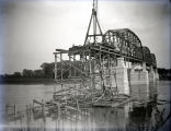 Harmony Way Bridge construction showing last span on Illinois side, White County, IL