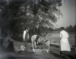Fred Tretheway, Ina Bailey, Neva Glump and Jessie Thomas Hale on a picnic at Foots Pond, New...