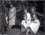 Women at the Eastern Star picnic in Kemmerling's Woods, New Harmony, IN