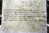Inscription on the Thomas Say monument, New Harmony, IN