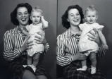 Helen Cleveland holding Connie Joe Overby, New Harmony, IN