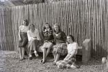 Betty Hardy, Jane Owen, Ruth Seamere, Oralie Sharon, Virginia Hardy, New Harmony, IN
