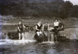 Group at old dam, New Harmony, IN