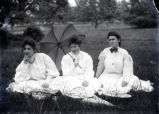 Barbara, Agnes and Nellie at the park, New Harmony, IN