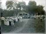 Crowd at Ribeyre Boy Scout Camp, New Harmony, IN.