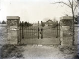 Harmonist cemetery gate, New Harmony, IN.