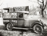 Harvey Webb's advertising musical Pontiac automobile, New Harmony, IN.