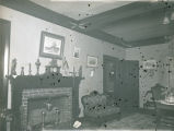 Fireplace in parlor of the Fauntleroy residence, New Harmony, IN.