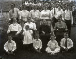 Billy McCoy in group (back row on right), New Harmony, IN.