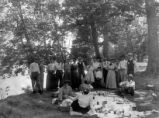 Group on picnic, New Harmony, IN