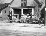 Flood damaged home, 1937,  Evansville, IN