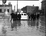 Police officers, flood of 1937, Evansville, IN