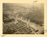 Aerial view of Evansville,  IN, 1937