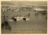 Flood aerial view, Evansville, IN, 1937