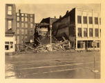 Buildings on Dress Plaza crumbling, Evansville, IN, 1937