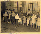 Flood refugees at Chrysler, Evansville, IN, 1937