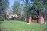 Shakamak State Park entrance sign