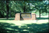 Shakamak State Park entrance sign on sunny day